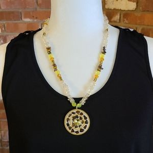 Beautiful Handmade Necklace w/ matching earrings